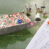 Pink and Green Flower Dice Tray